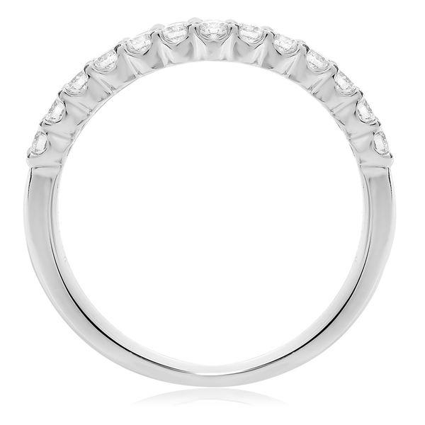 White Gold Shared Prong Diamond Band  Image 2 Mystique Jewelers Alexandria, VA