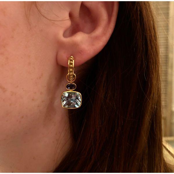 Blue Topaz Ear charms Mystique Jewelers Alexandria, VA