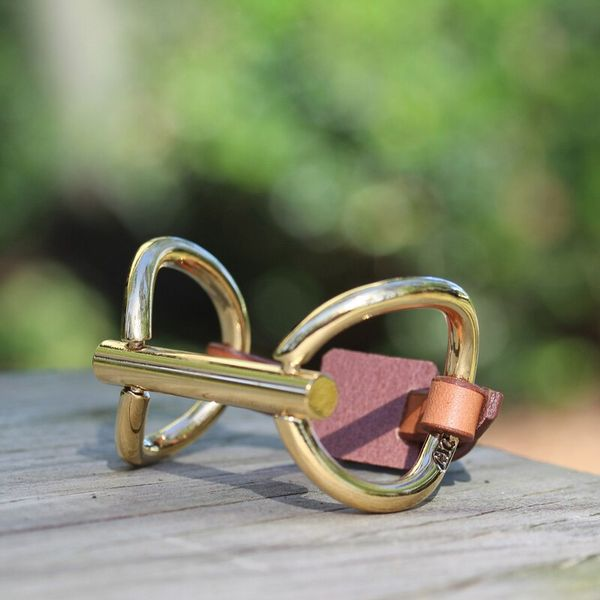 Gold Leather Bit Bracelet Mystique Jewelers Alexandria, VA