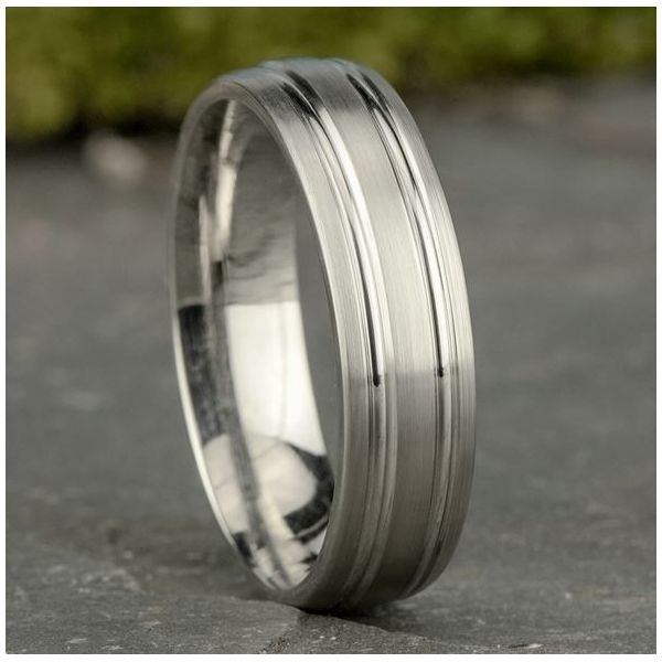 Comfort-Fit Design Wedding Band Image 3 Mystique Jewelers Alexandria, VA