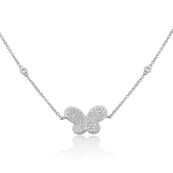 White Diamond Butterfly Necklace Mystique Jewelers Alexandria, VA