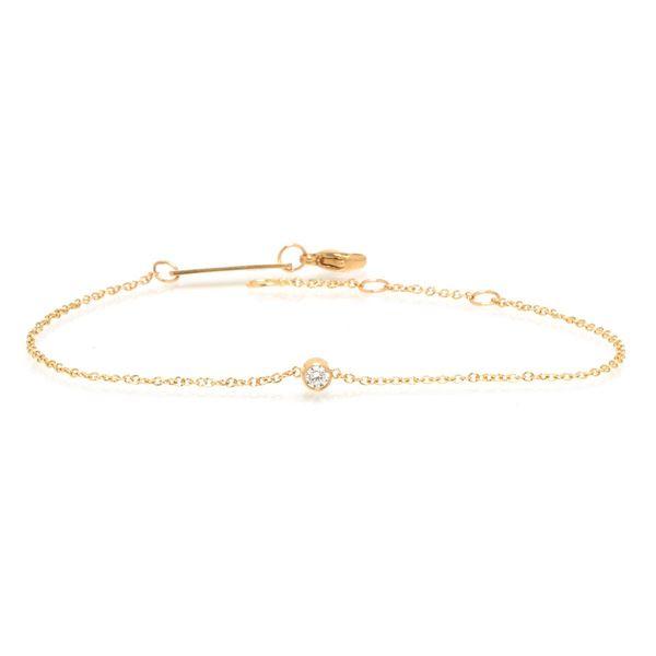 14k single bezel diamond bracelet Mystique Jewelers Alexandria, VA