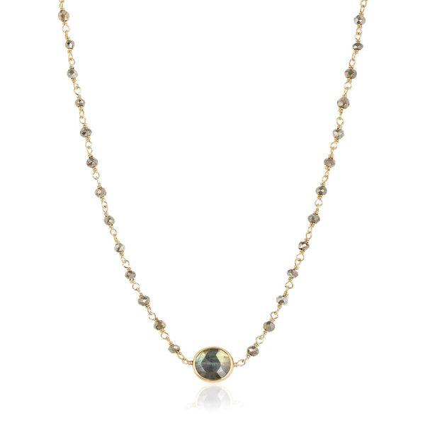 Dentrite Opal and Labradorite Necklace Mystique Jewelers Alexandria, VA