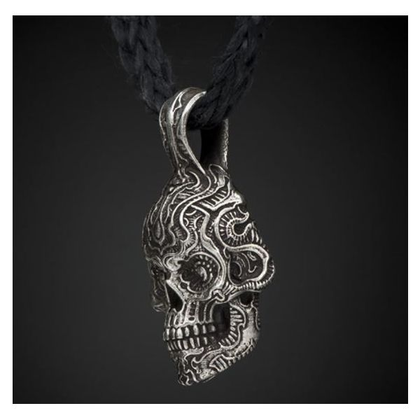 Cristobal Skull Necklace Image 2 Mystique Jewelers Alexandria, VA