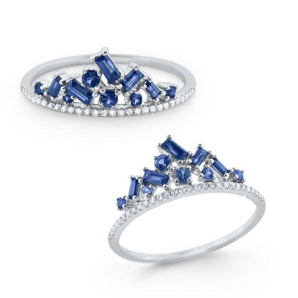 Sapphire & Diamond Crown Ring Mystique Jewelers Alexandria, VA