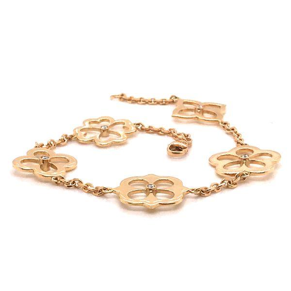 Diamond Lotus Petal Motif Bracelet Image 2 Mystique Jewelers Alexandria, VA