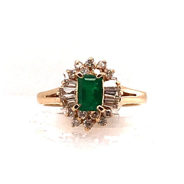 Emerald & Diamond Gold Ring Mystique Jewelers Alexandria, VA
