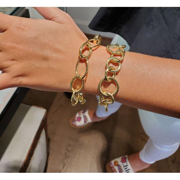 14K Gold Round Link Bracelet Image 2 Mystique Jewelers Alexandria, VA