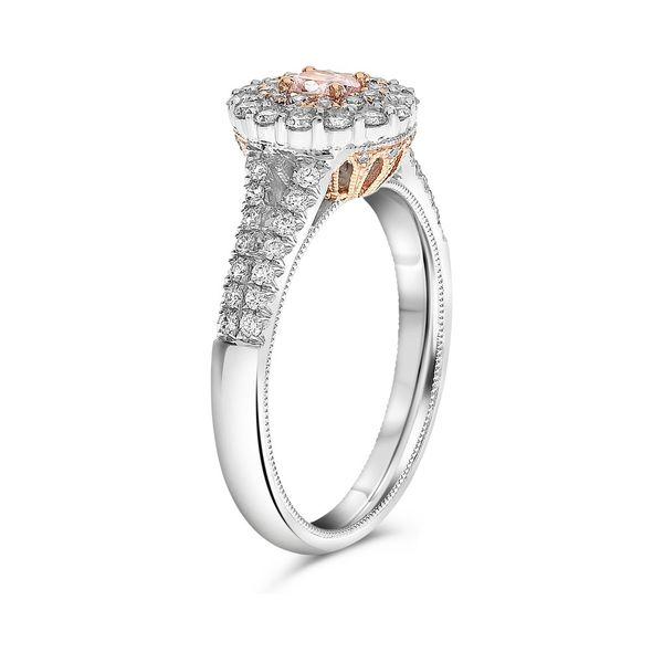 Vintage Inspired Pink and White Diamond Ring Image 2 Mystique Jewelers Alexandria, VA