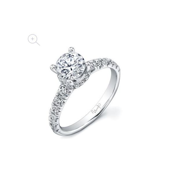 Low Halo Diamond Engagement Ring Mystique Jewelers Alexandria, VA