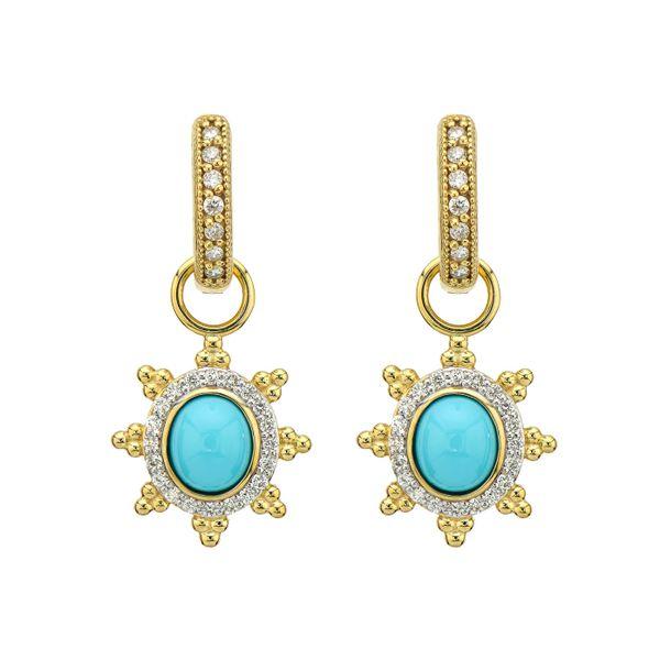 Provence Pave Halo Trio Sunburst Earring Charm Mystique Jewelers Alexandria, VA