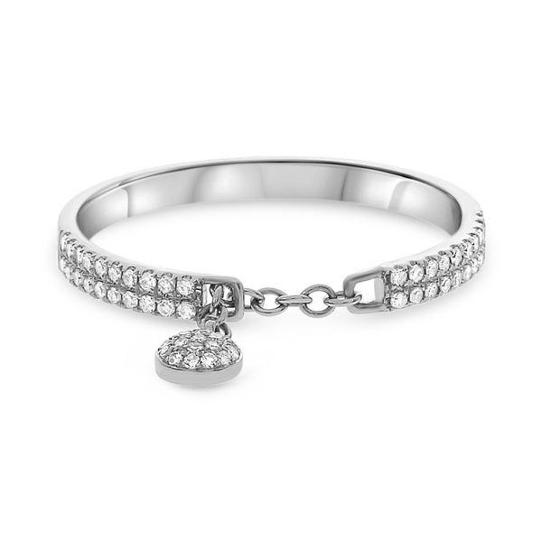 Chain Diamond Ring with Dangle Mystique Jewelers Alexandria, VA