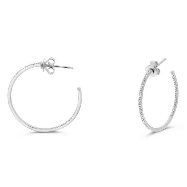 White Diamond Open Hoop Earrings Mystique Jewelers Alexandria, VA