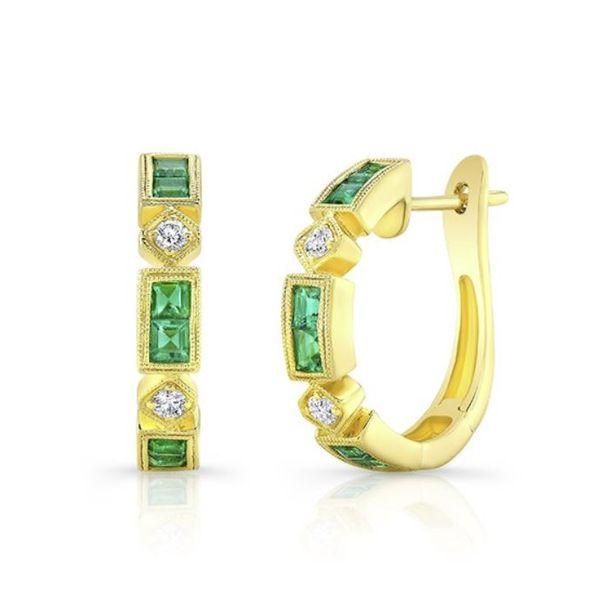 Emerald Diamond Earrings Mystique Jewelers Alexandria, VA