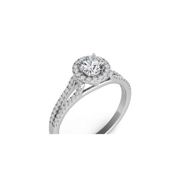 White Gold Halo Engagement Ring Mystique Jewelers Alexandria, VA