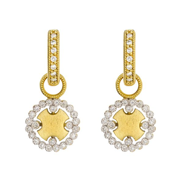 Provence Champagne Pave Round Earring Charms With JFJ Finish Mystique Jewelers Alexandria, VA