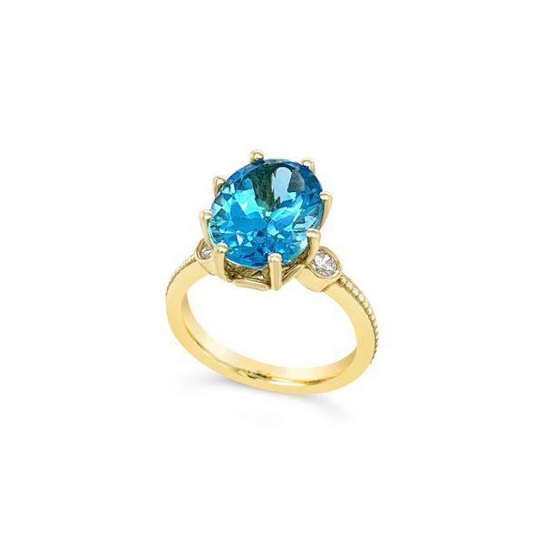Blue Topaz Diamond Ring Mystique Jewelers Alexandria, VA