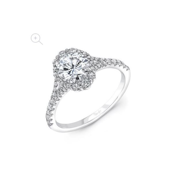 Uneek Round Diamond Engagement Ring Mystique Jewelers Alexandria, VA