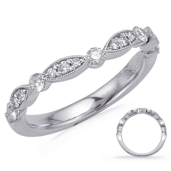 Curved Diamond Band Mystique Jewelers Alexandria, VA