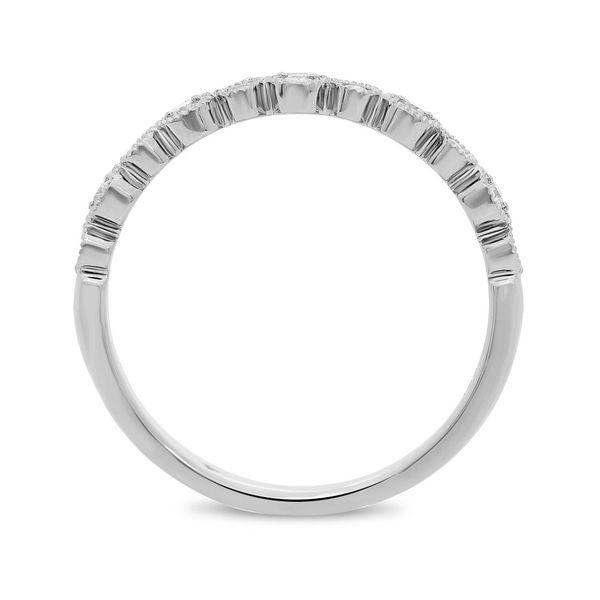 White Diamond Milgrain Band  Image 3 Mystique Jewelers Alexandria, VA