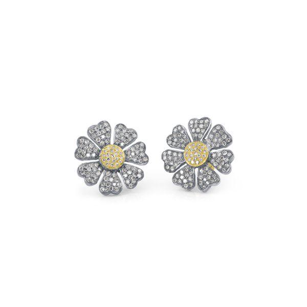 Diamond Pave Daisy Stud Earrings Mystique Jewelers Alexandria, VA
