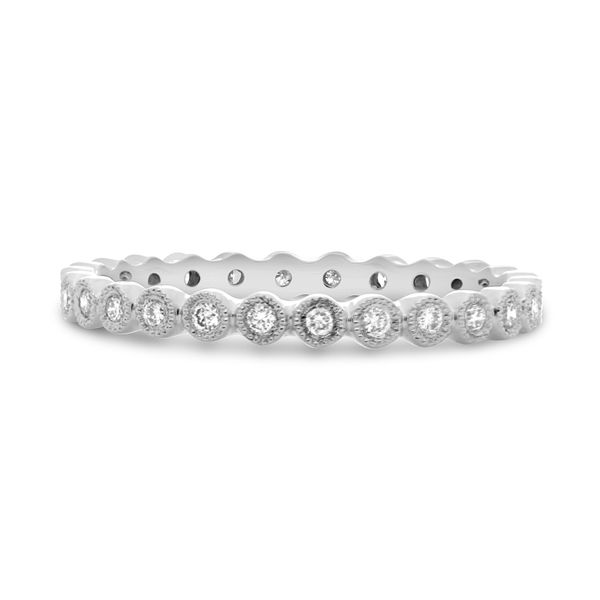 Diamond Milgrain Eternity Band  Mystique Jewelers Alexandria, VA