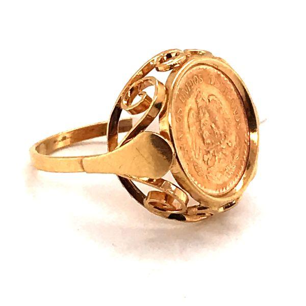 5 Peso Coin Ring Image 2 Mystique Jewelers Alexandria, VA