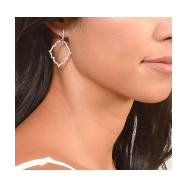 Michelle Flower Pave Earring Charm Image 2 Mystique Jewelers Alexandria, VA