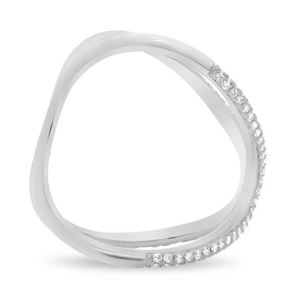 Wavy Diamond Pave Cuff Ring  Image 2 Mystique Jewelers Alexandria, VA