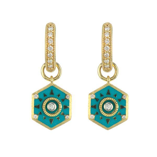 Lisse Hexagon Earring Charm With Sundial Rays Mystique Jewelers Alexandria, VA