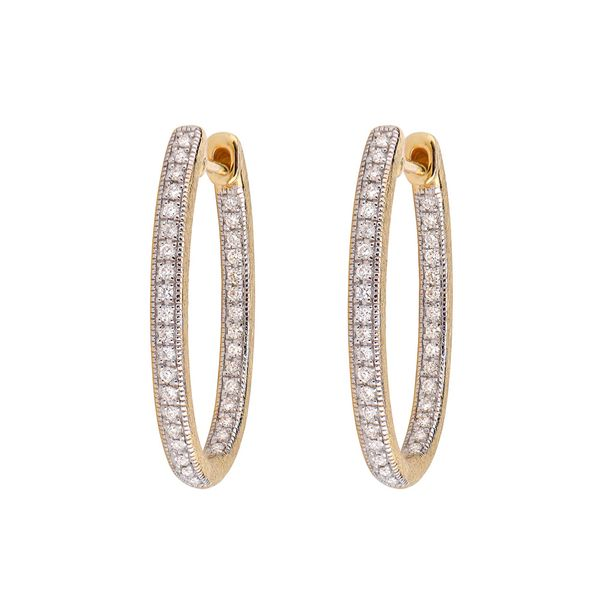 Delicate Large Oval Hoop Earrings Mystique Jewelers Alexandria, VA