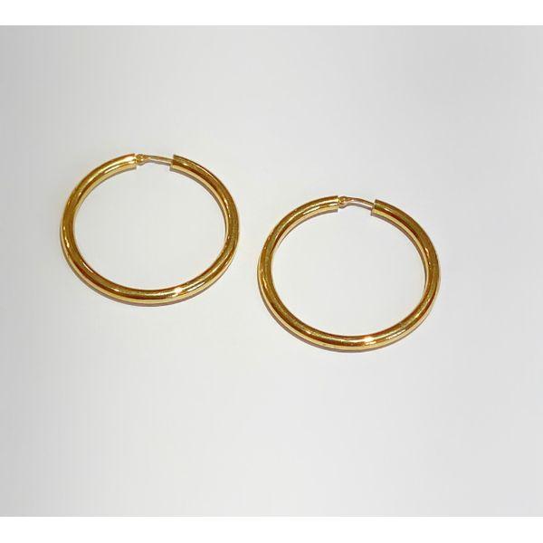 Gold Hoops Mystique Jewelers Alexandria, VA