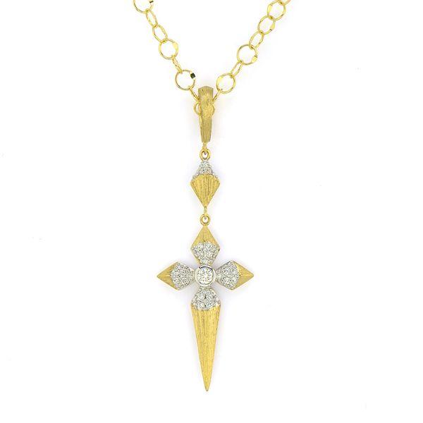 Lisse Medium Pave Pyramid Cross Pendant Mystique Jewelers Alexandria, VA