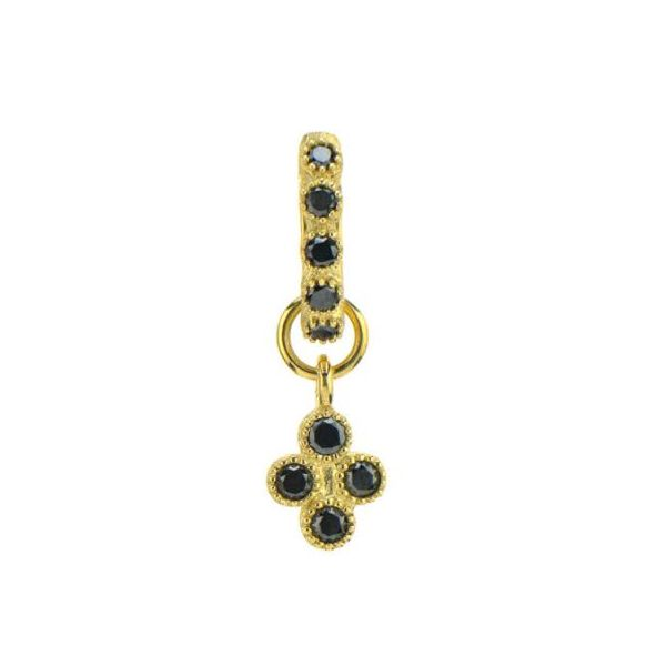 Yellow Gold Petite Black Diamond Quad Charm Mystique Jewelers Alexandria, VA