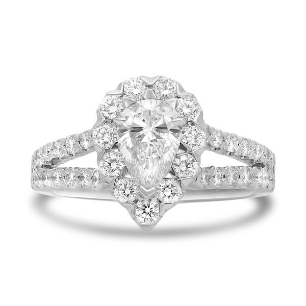 Pear-shaped Split Shank Diamond Ring Mystique Jewelers Alexandria, VA