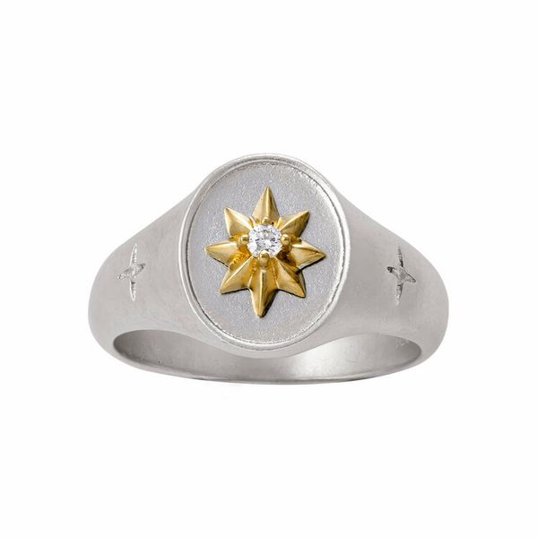 Solaria Signet Ring Mystique Jewelers Alexandria, VA