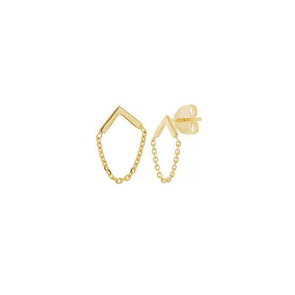 Bar chain earrings Image 2 Mystique Jewelers Alexandria, VA