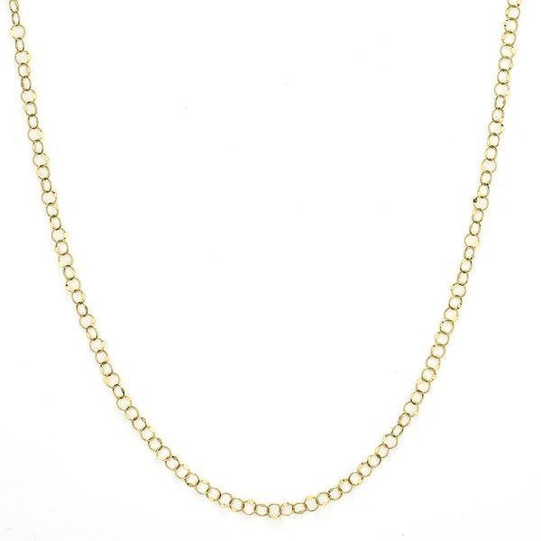 Hammered Circle Chain Mystique Jewelers Alexandria, VA