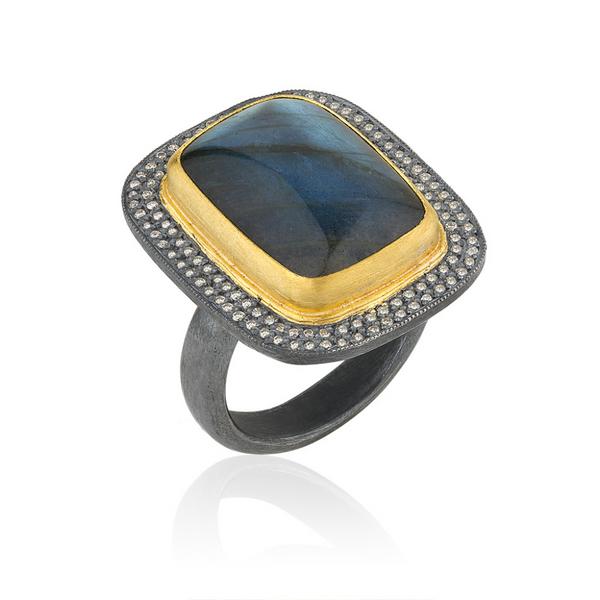LABRADORITE DIAMOND RING  Mystique Jewelers Alexandria, VA