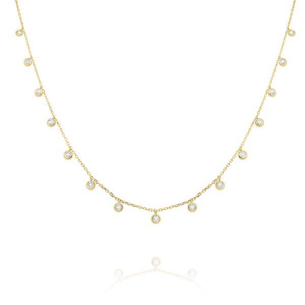 Gold and Diamond Drops Necklace Mystique Jewelers Alexandria, VA
