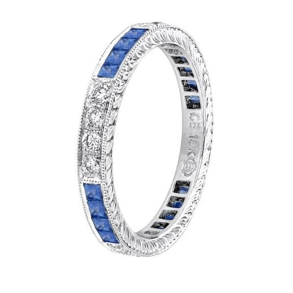 Sapphire Diamond Band  Mystique Jewelers Alexandria, VA