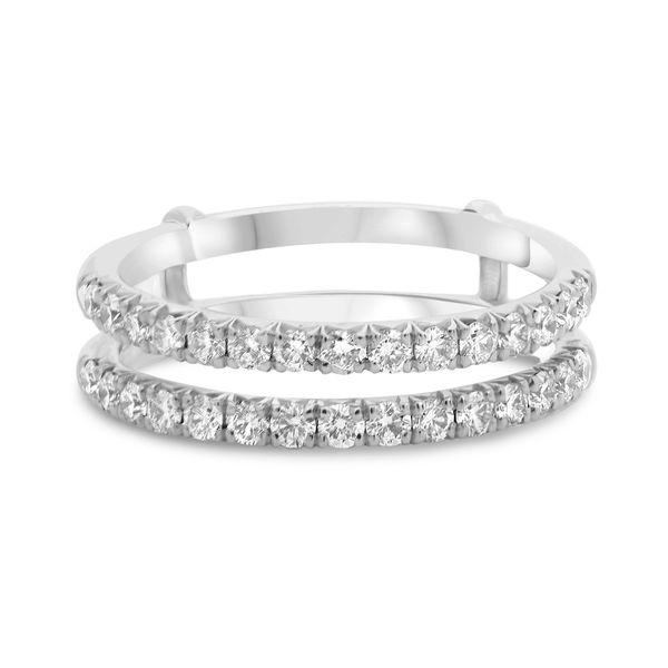 White Diamond Insert Wedding Band Mystique Jewelers Alexandria, VA
