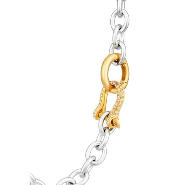 Petit Shackle Chain Necklace | Gold Diamond Mystique Jewelers Alexandria, VA