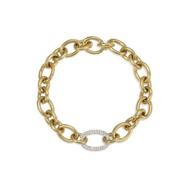 Diamnd Gold Link Bracelet Mystique Jewelers Alexandria, VA