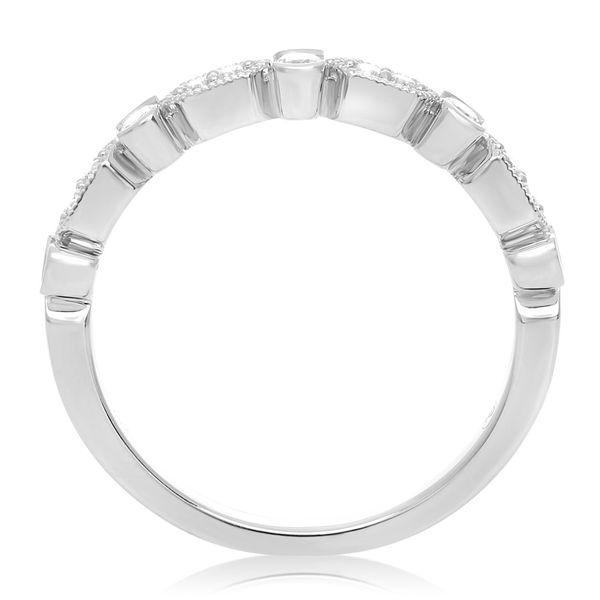 Geometric Milgrain & Diamond Band Image 3 Mystique Jewelers Alexandria, VA