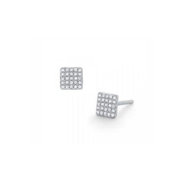 Diamond Pavé Square Studs Mystique Jewelers Alexandria, VA