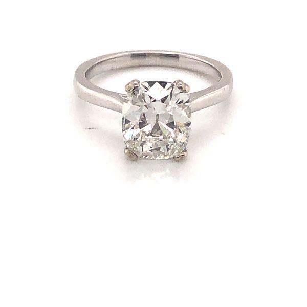 3.02ct Cushion Diamond Solitaire Engagement Ring Mystique Jewelers Alexandria, VA