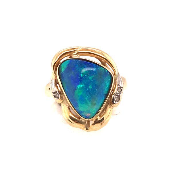 Opal Doublet Ring Mystique Jewelers Alexandria, VA