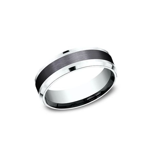 7mm and black titanium band Mystique Jewelers Alexandria, VA