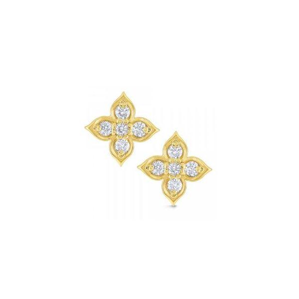 Diamond Floral Stud Earrings Mystique Jewelers Alexandria, VA